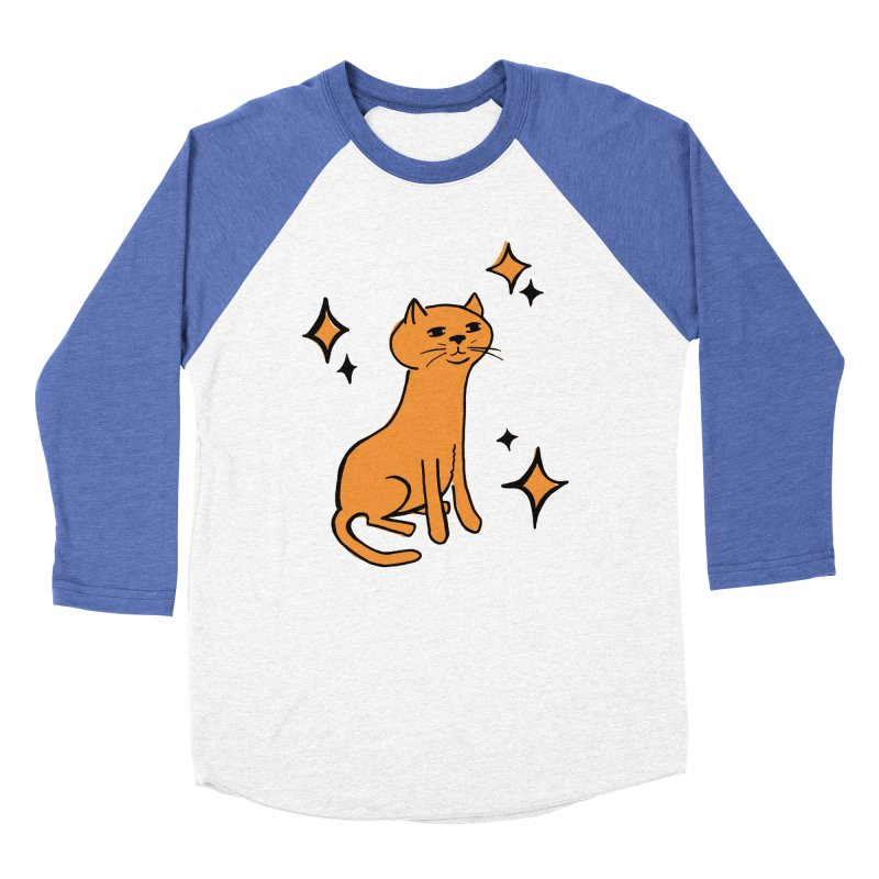 Just a Cat Men's Baseball Triblend Longsleeve T-Shirt by Cowboy Goods Artist Shop