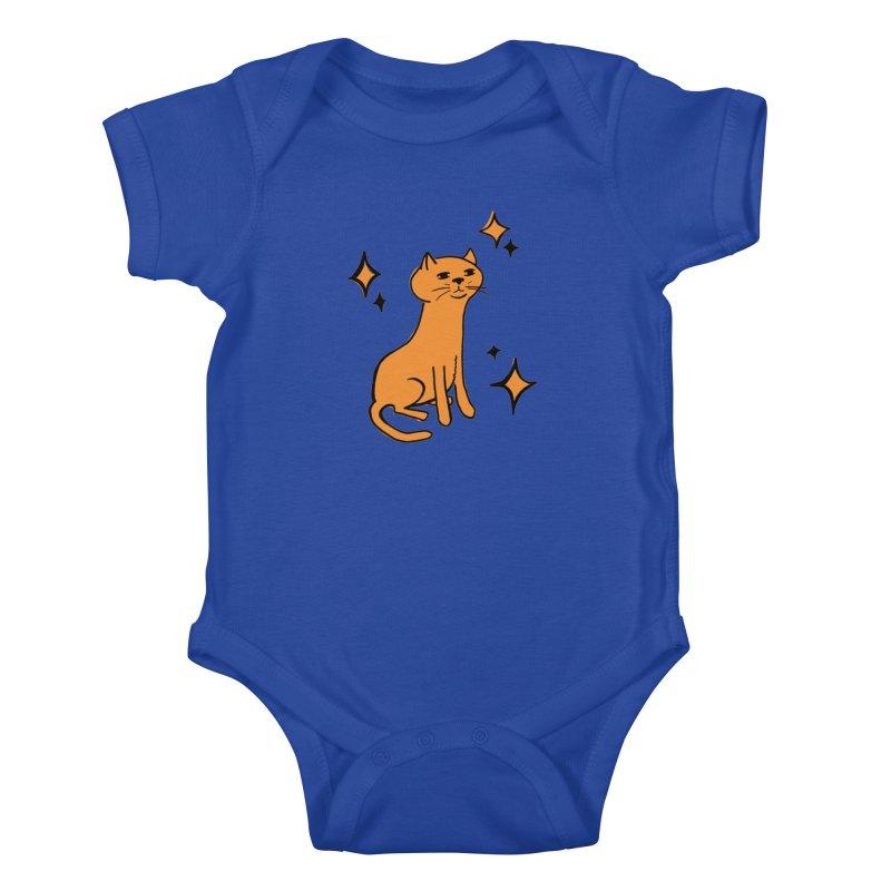 Just a Cat Kids Baby Bodysuit by Cowboy Goods Artist Shop