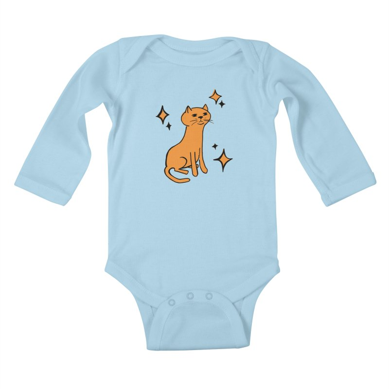 Just a Cat Kids Baby Longsleeve Bodysuit by Cowboy Goods Artist Shop