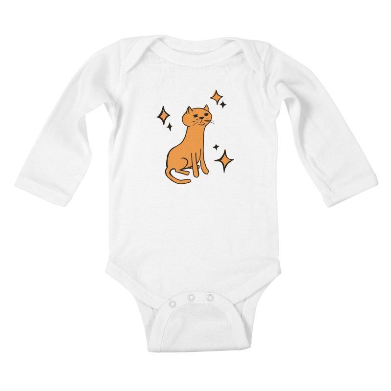 Just a Cat Kids Baby Longsleeve Bodysuit by Cowboy Goods Artist Shop