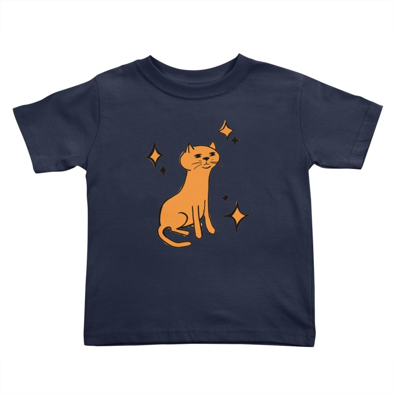 Just a Cat Kids Toddler T-Shirt by Cowboy Goods Artist Shop