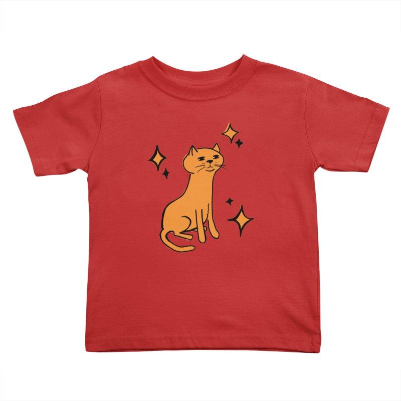 Just a Cat Kids Toddler T-Shirt by Cowboy Goods Artist Shop