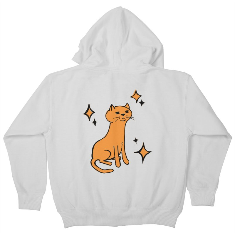 Just a Cat Kids Zip-Up Hoody by Cowboy Goods Artist Shop