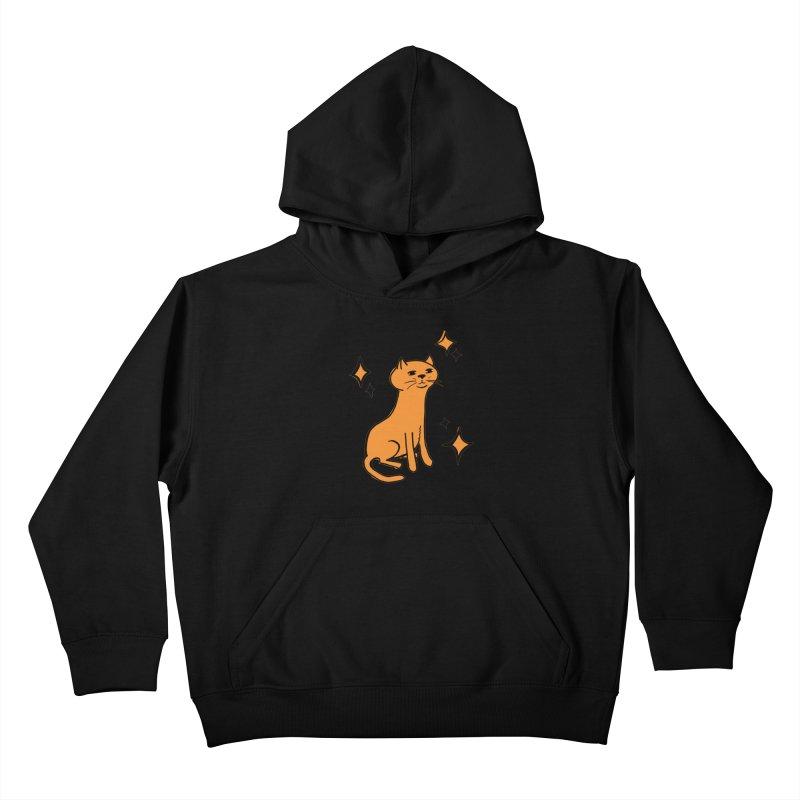 Just a Cat Kids Pullover Hoody by Cowboy Goods Artist Shop