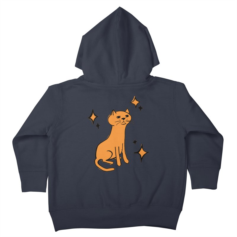 Just a Cat Kids Toddler Zip-Up Hoody by Cowboy Goods Artist Shop