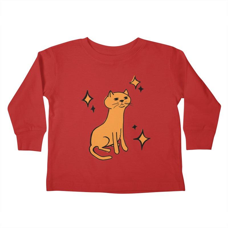 Just a Cat Kids Toddler Longsleeve T-Shirt by Cowboy Goods Artist Shop