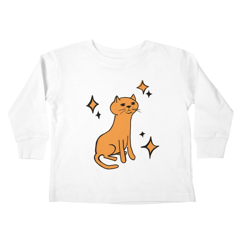 Just a Cat Kids Toddler Longsleeve T-Shirt by Cowboy Goods Artist Shop