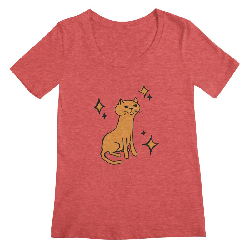 Just a Cat Women's Scoopneck by Cowboy Goods Artist Shop