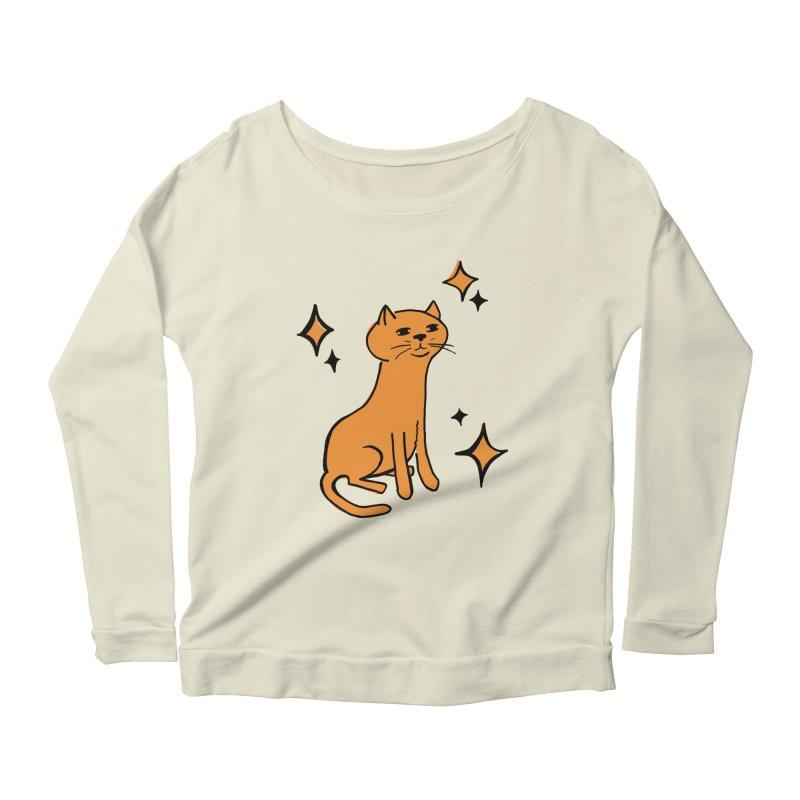 Just a Cat Women's Scoop Neck Longsleeve T-Shirt by Cowboy Goods Artist Shop