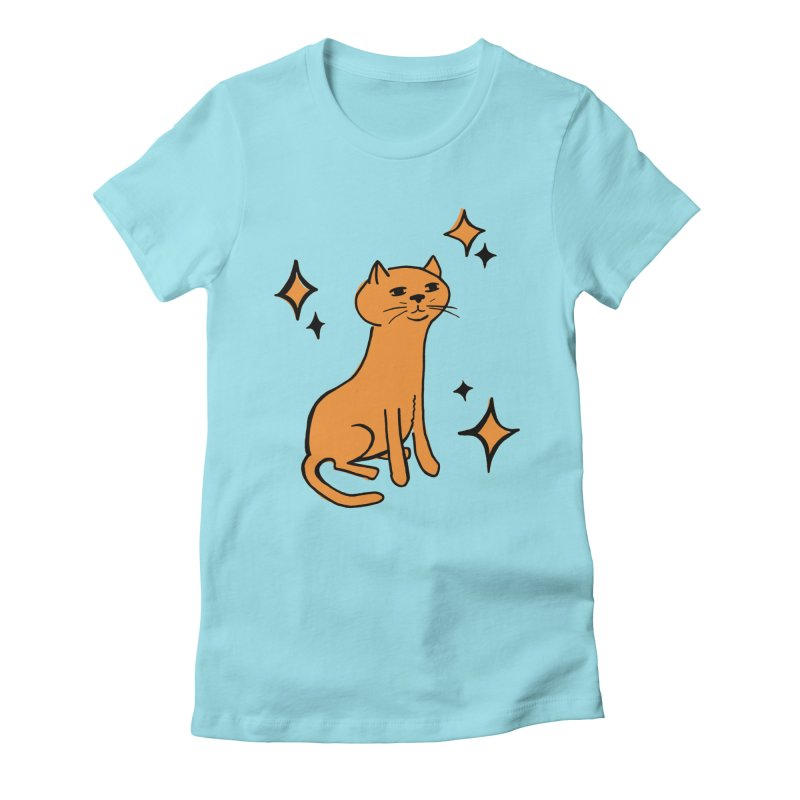 Just a Cat in Women's Fitted T-Shirt Cancun by Cowboy Goods Artist Shop