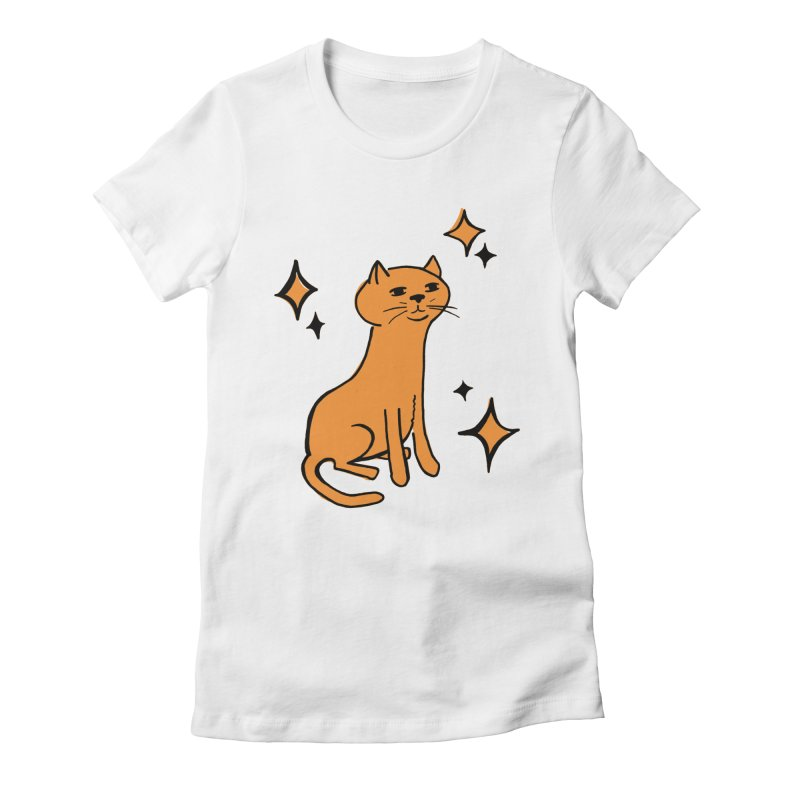 Just a Cat Women's Fitted T-Shirt by Cowboy Goods Artist Shop