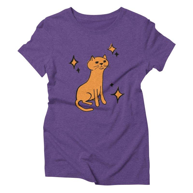 Just a Cat Women's Triblend T-shirt by Cowboy Goods Artist Shop