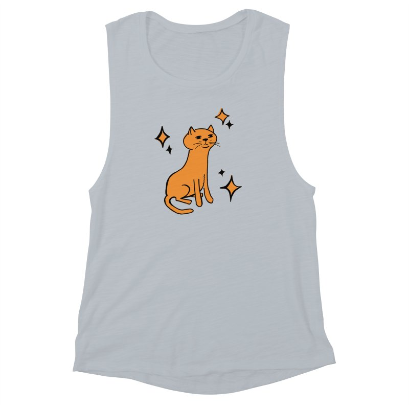 Just a Cat Women's Muscle Tank by Cowboy Goods Artist Shop