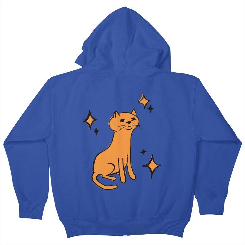 Just a Cat Kids Zip-Up Hoody by Cowboy Goods Artist Shop