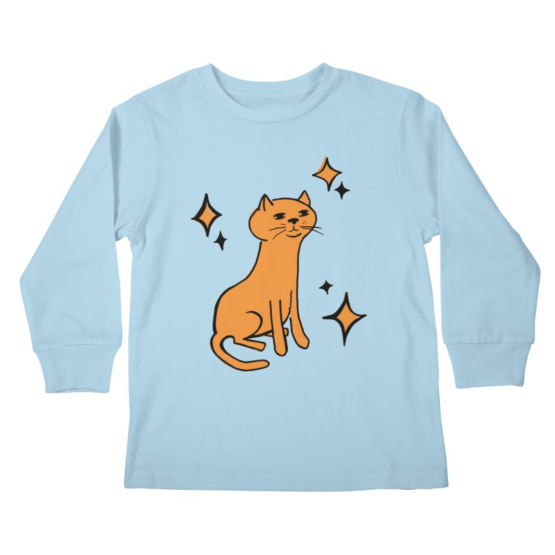 Just a Cat Kids Longsleeve T-Shirt by Cowboy Goods Artist Shop
