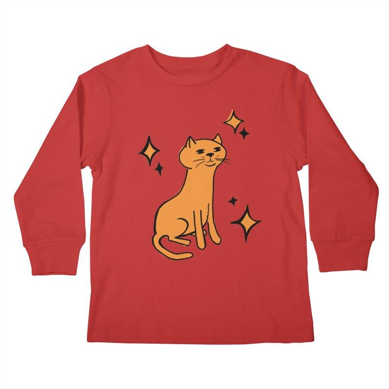 Just a Cat Kids Longsleeve T-Shirt by Cowboy Goods Artist Shop
