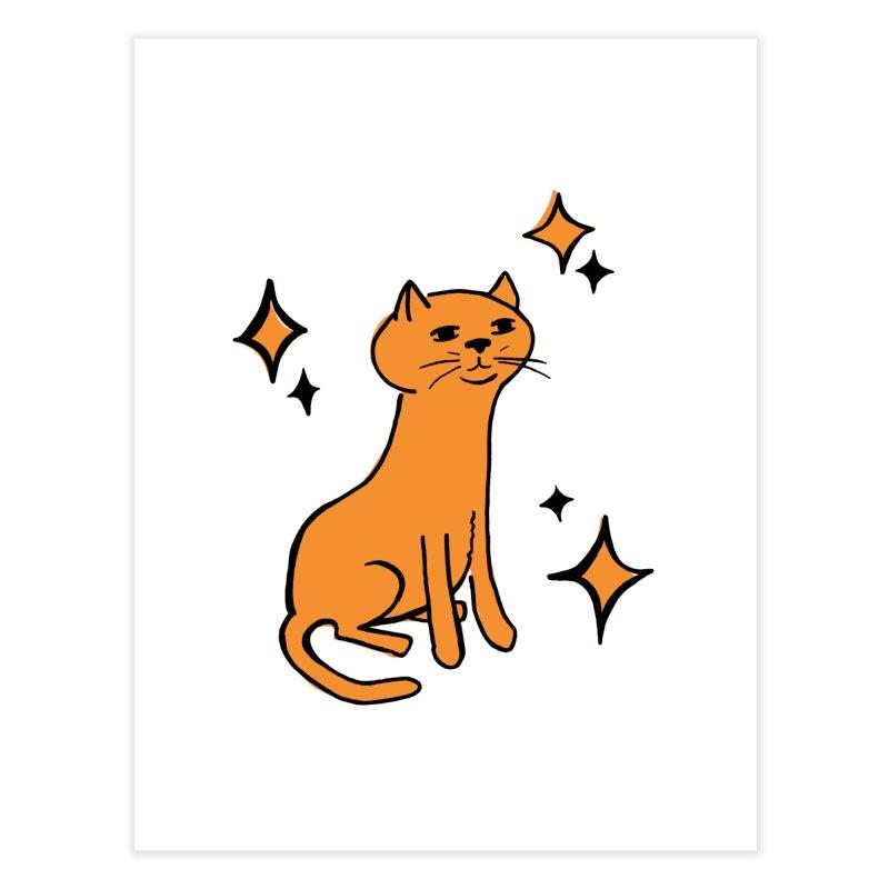 Just a Cat Home Fine Art Print by Cowboy Goods Artist Shop