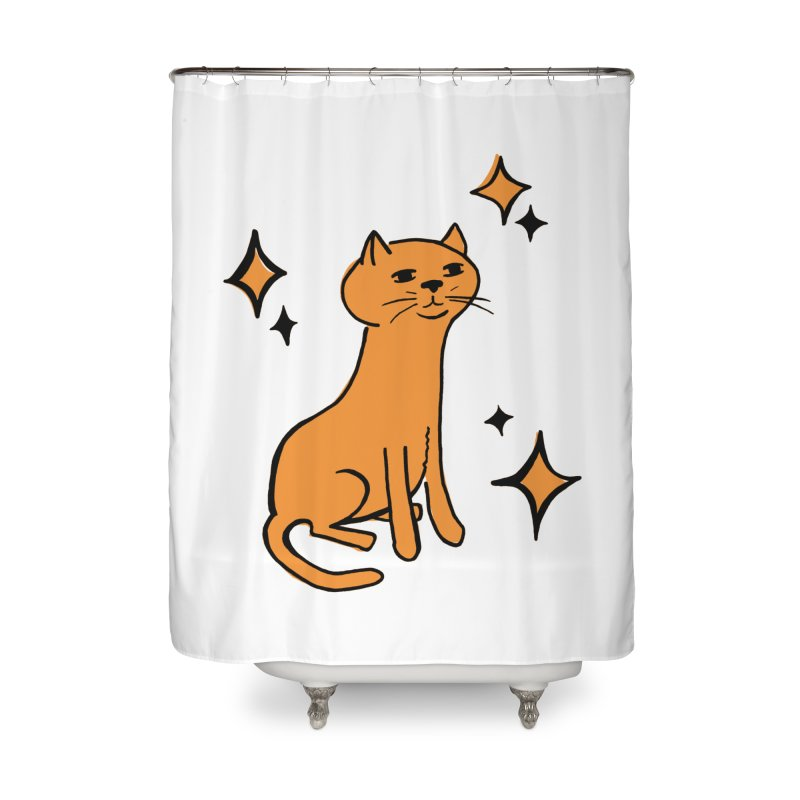 Just a Cat Home Shower Curtain by Cowboy Goods Artist Shop