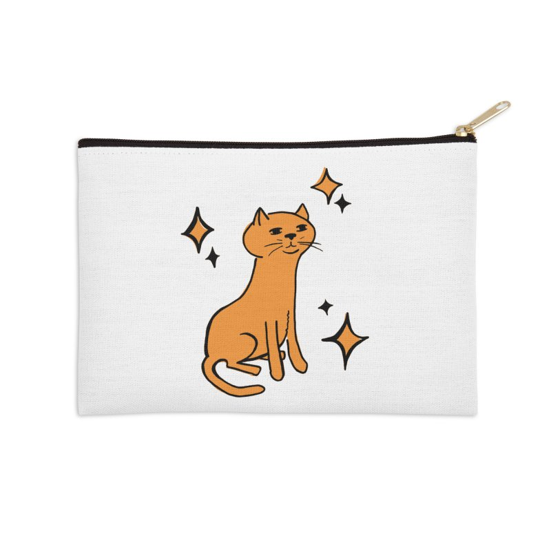 Just a Cat Accessories Zip Pouch by Cowboy Goods Artist Shop