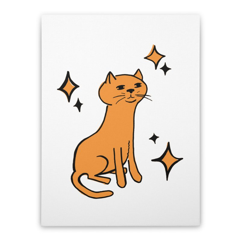 Just a Cat Home Stretched Canvas by Cowboy Goods Artist Shop