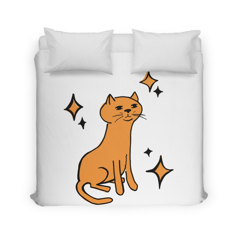 Just a Cat Home Duvet by Cowboy Goods Artist Shop