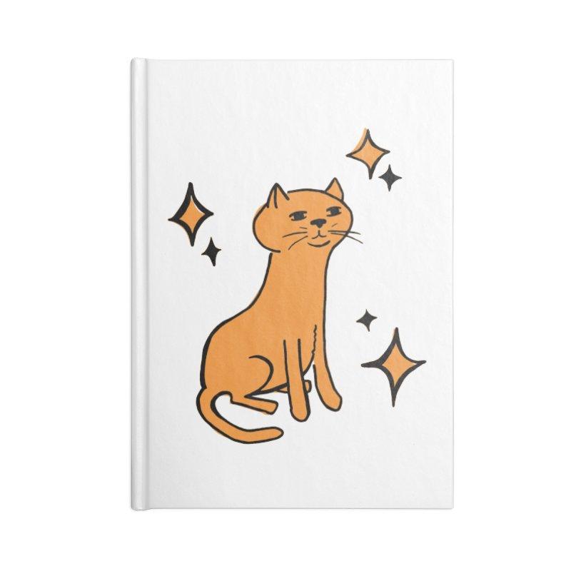 Just a Cat Accessories Lined Journal Notebook by Cowboy Goods Artist Shop