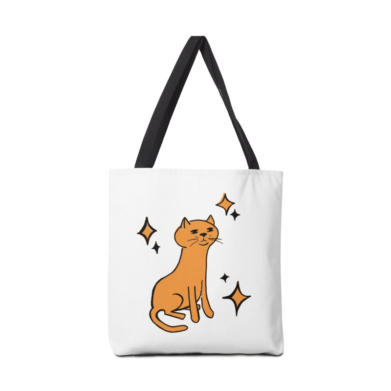 Just a Cat Accessories Tote Bag Bag by Cowboy Goods Artist Shop