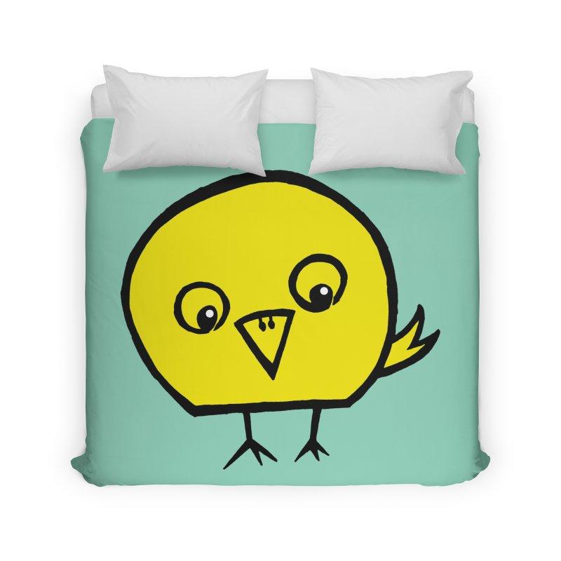 Little Chick Home Duvet by Cowboy Goods Artist Shop