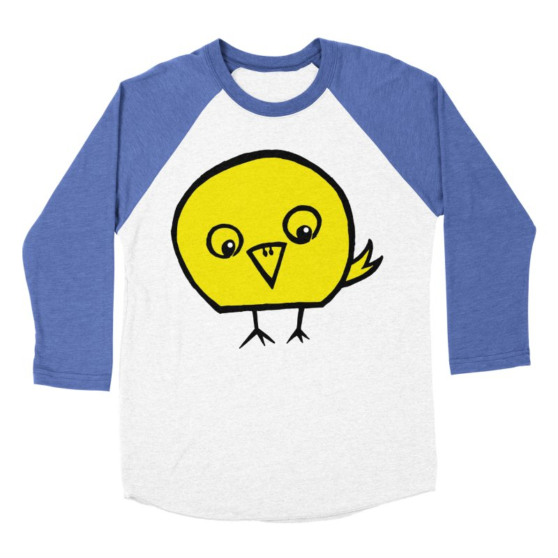 Little Chick Women's Baseball Triblend Longsleeve T-Shirt by Cowboy Goods Artist Shop