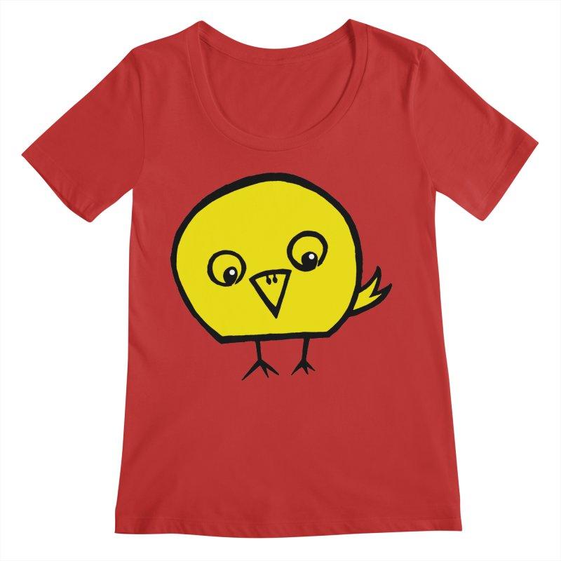 Little Chick Women's Regular Scoop Neck by Cowboy Goods Artist Shop