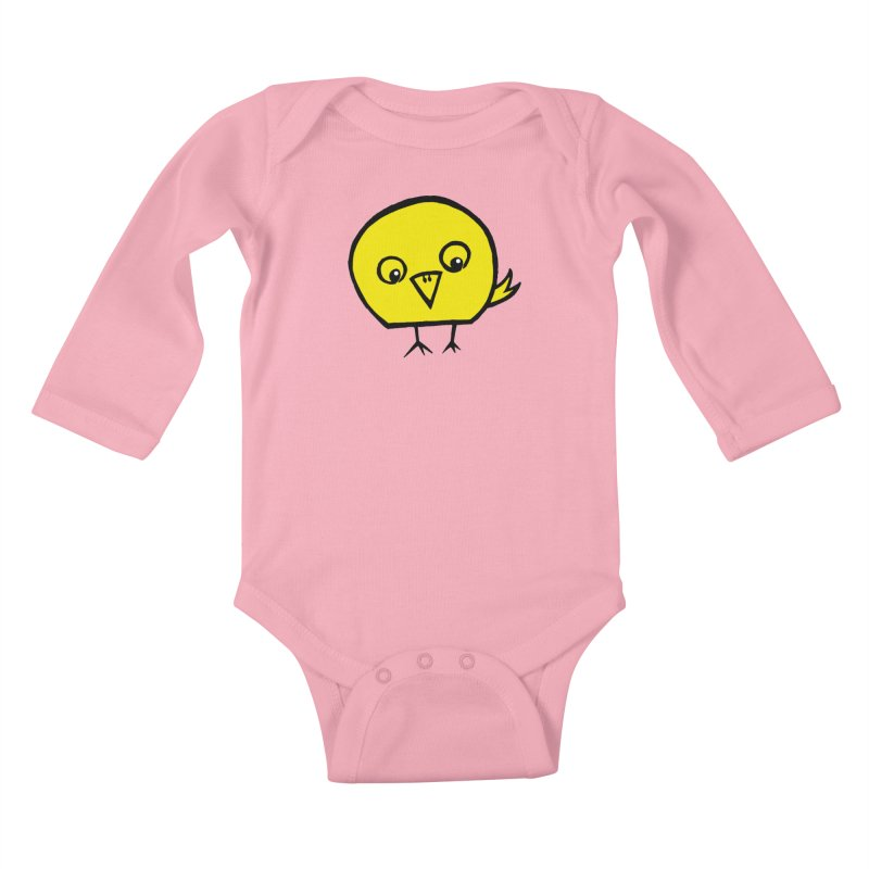 Little Chick Kids Baby Longsleeve Bodysuit by Cowboy Goods Artist Shop