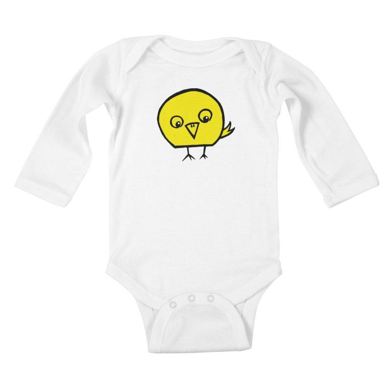 Little Chick Kids Baby Longsleeve Bodysuit by Cowboy Goods Artist Shop