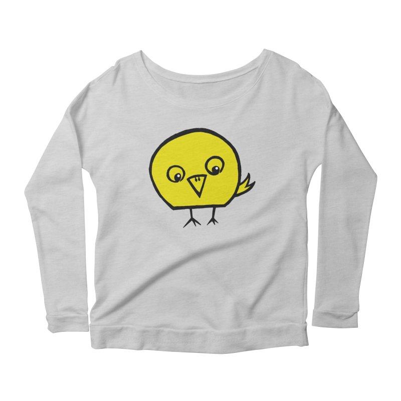 Little Chick Women's Scoop Neck Longsleeve T-Shirt by Cowboy Goods Artist Shop
