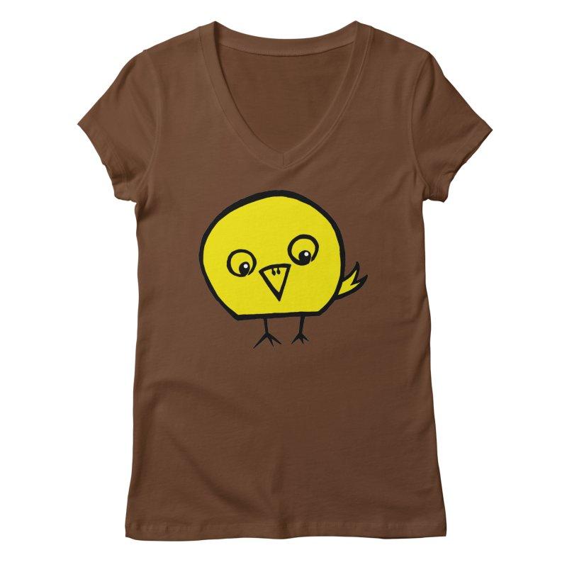 Little Chick Women's Regular V-Neck by Cowboy Goods Artist Shop