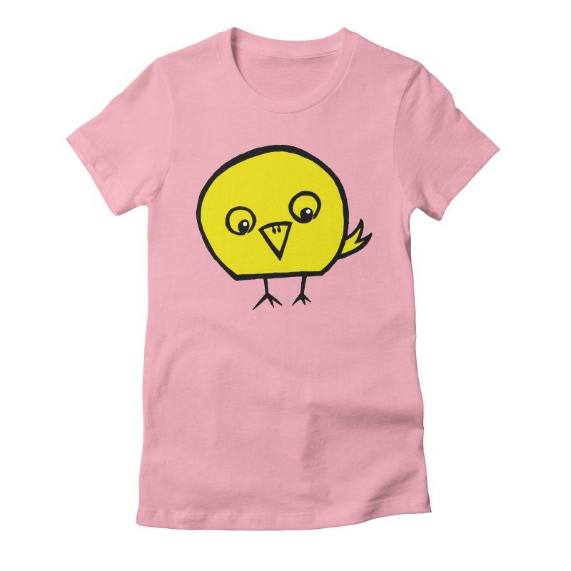 Little Chick Women's Fitted T-Shirt by Cowboy Goods Artist Shop