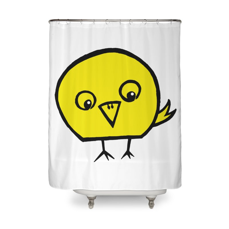 Little Chick Home Shower Curtain by Cowboy Goods Artist Shop
