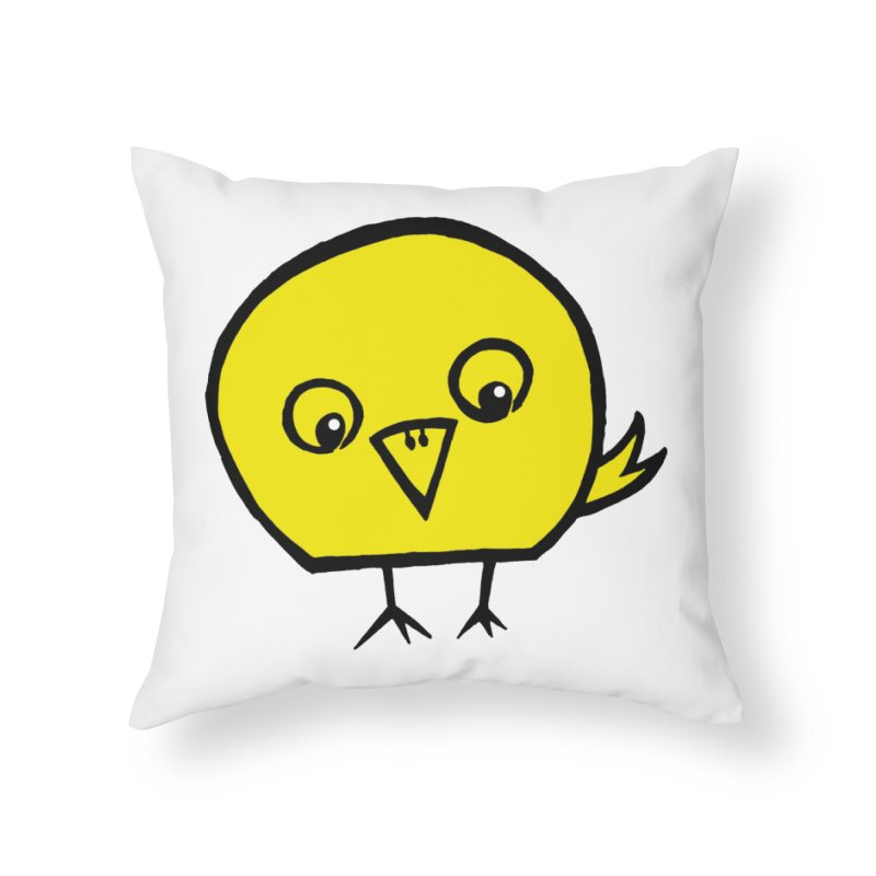 Little Chick Home Throw Pillow by Cowboy Goods Artist Shop