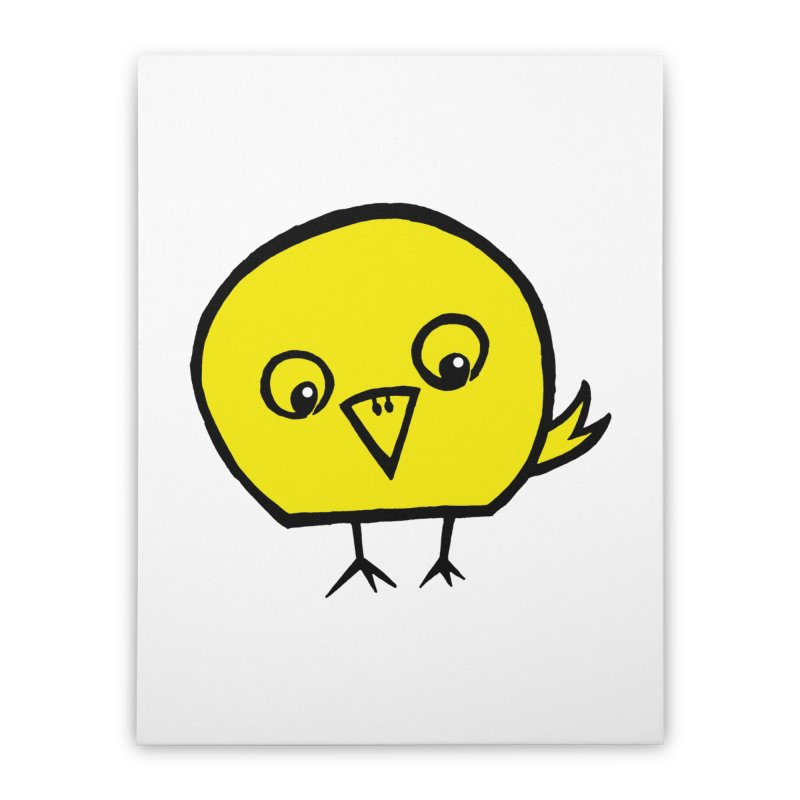 Little Chick Home Stretched Canvas by Cowboy Goods Artist Shop