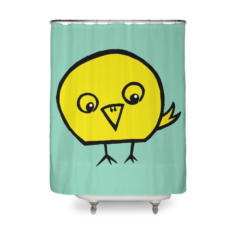 Little Chick Home Shower Curtain by Cowboy Goods Artist Shop