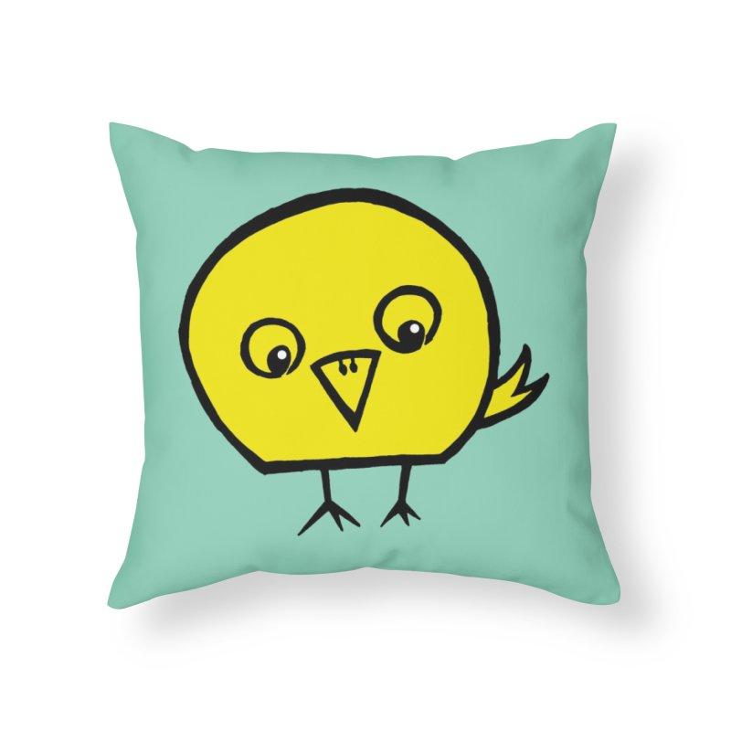 Little Chick Home Throw Pillow by Cowboy Goods Artist Shop