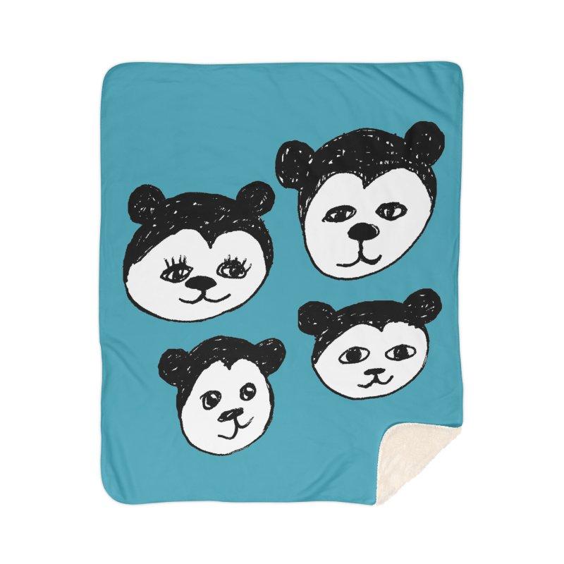 Panda Heads Home Blanket by Cowboy Goods Artist Shop