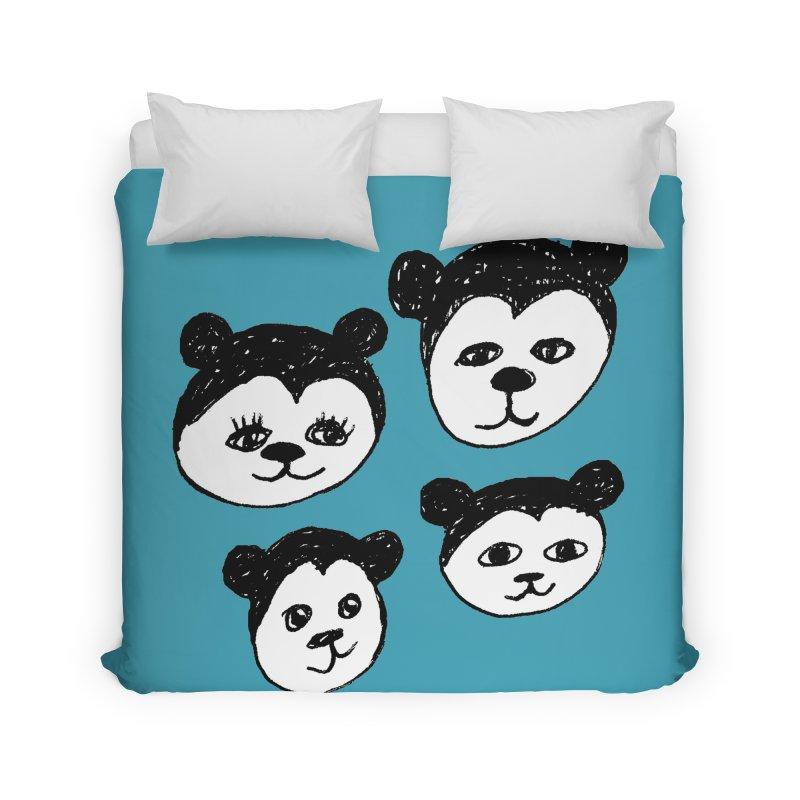 Panda Heads Home Duvet by Cowboy Goods Artist Shop
