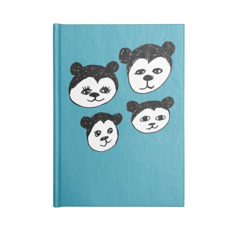 Panda Heads Accessories Notebook by Cowboy Goods Artist Shop