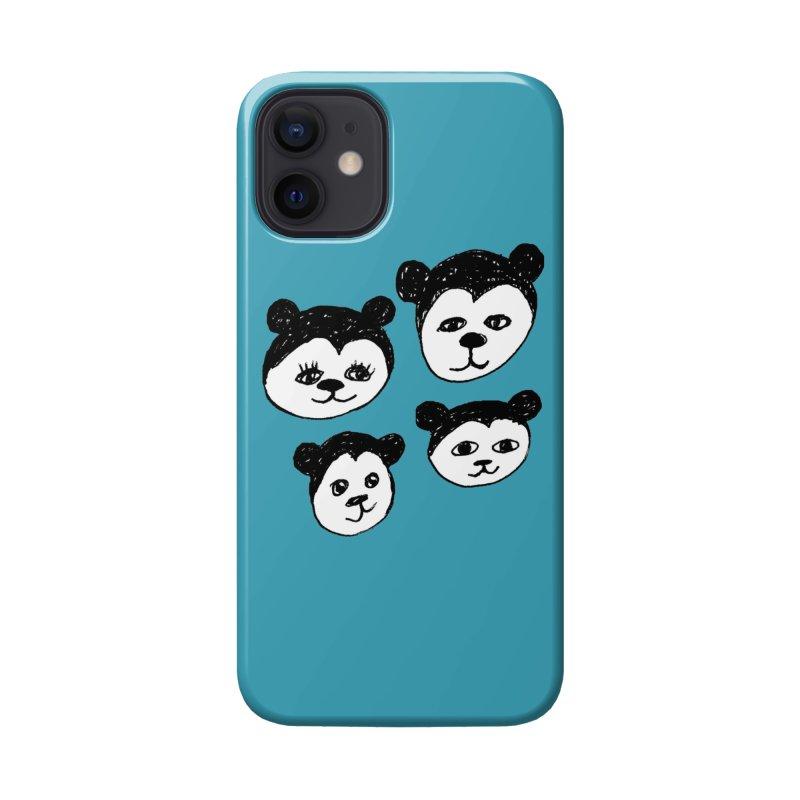 Panda Heads Accessories Phone Case by Cowboy Goods Artist Shop