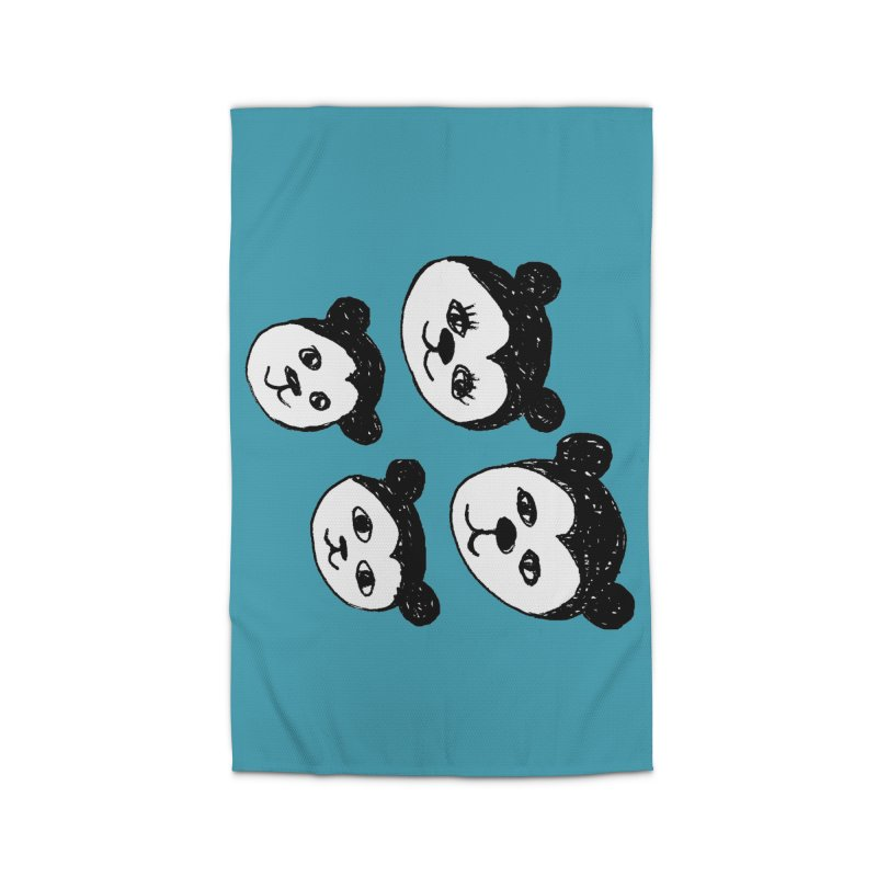 Panda Heads Home Rug by Cowboy Goods Artist Shop