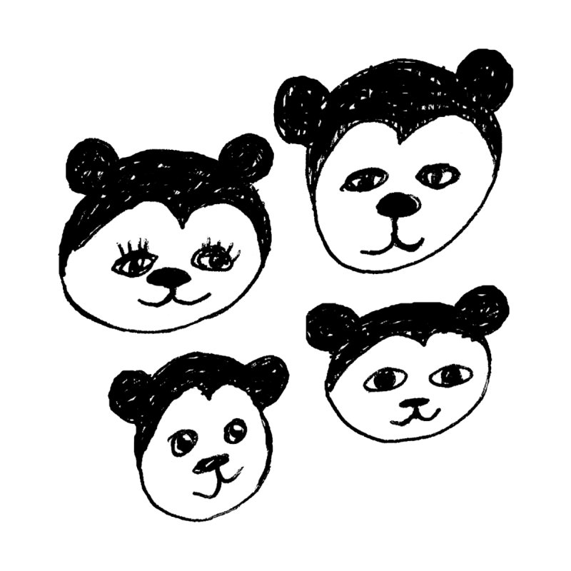 Panda Heads Accessories Notebook by Cowboy Goods Artist Shop