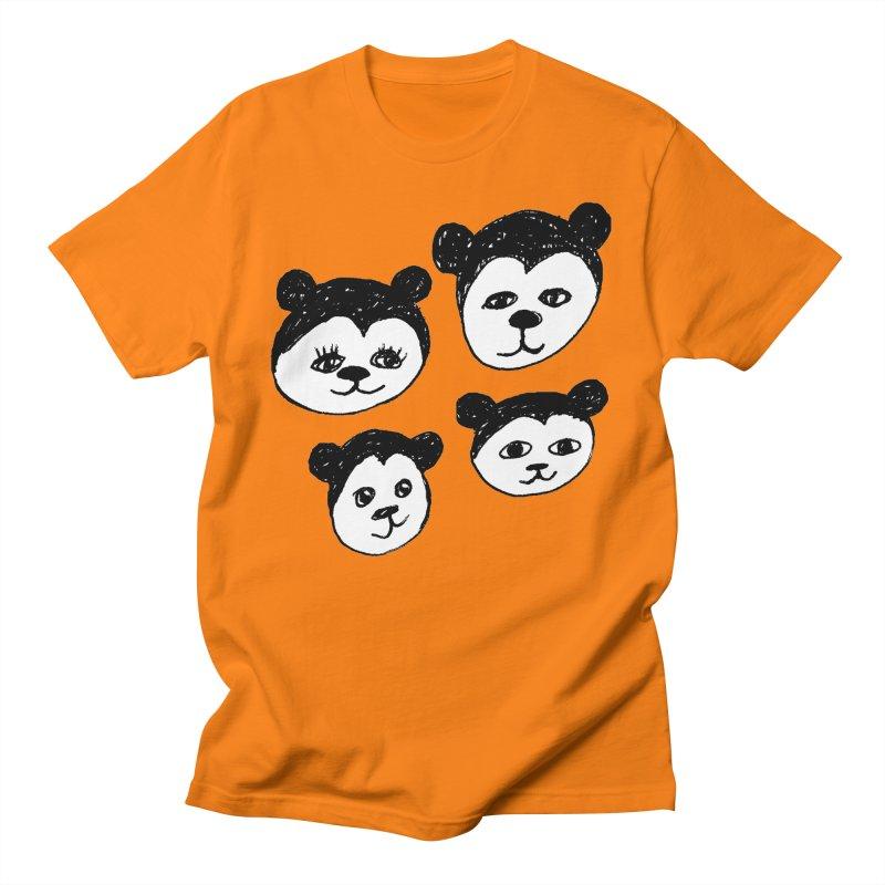 Panda Heads Men's T-Shirt by Cowboy Goods Artist Shop