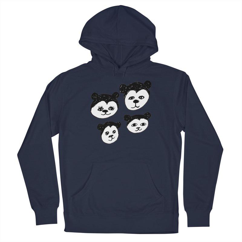 Panda Heads Men's Pullover Hoody by Cowboy Goods Artist Shop