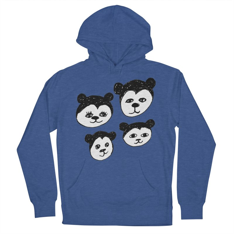 Panda Heads Women's French Terry Pullover Hoody by Cowboy Goods Artist Shop