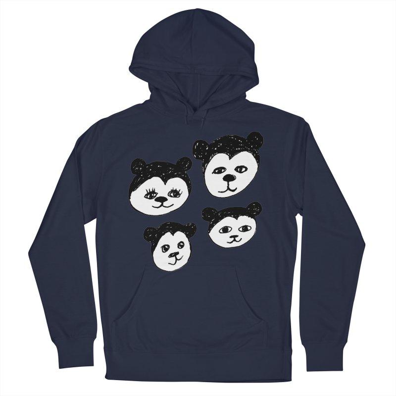Panda Heads Women's Pullover Hoody by Cowboy Goods Artist Shop